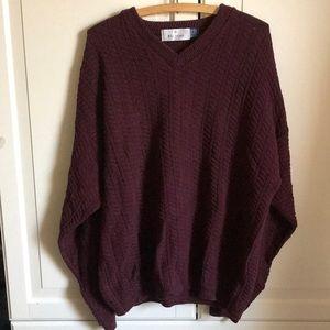 Bill blass maroon cable knit sweater. Sz large